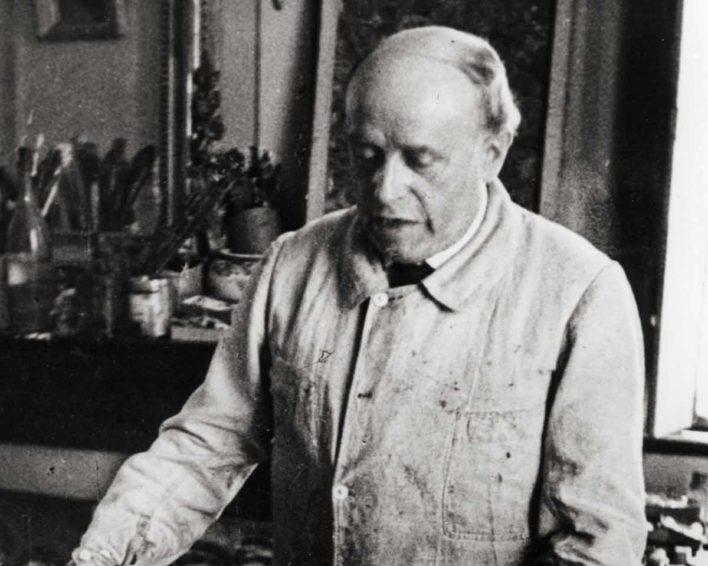 Georges Rouault dans son atelier
