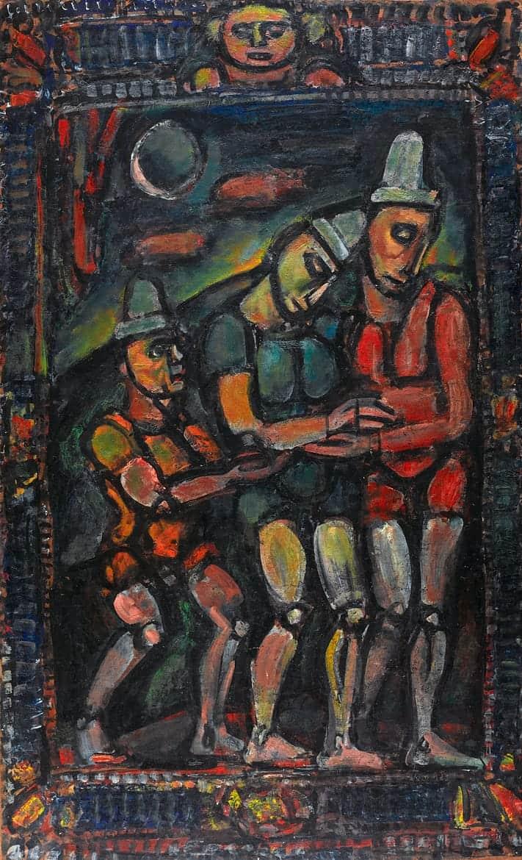 Le clown blessé, carton pour tapisserie, 1932