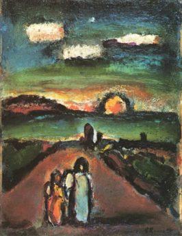 Paysage biblique au soleil couchant, 1940-1948