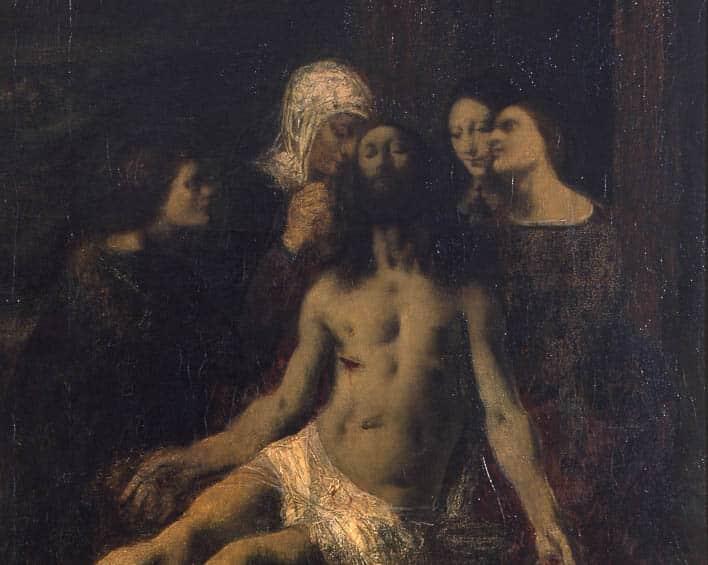 Le Christ mort pleuré par les Saintes Femmes, 1895, détail