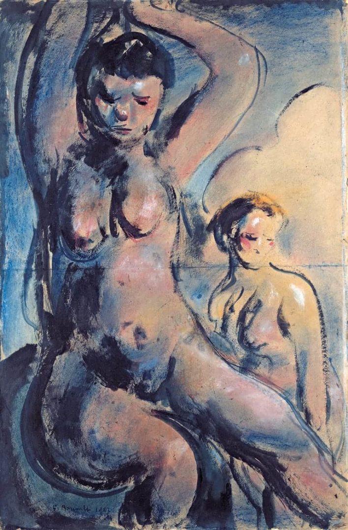 Nu pour composition (dit aussi Baigneuses) - 1907