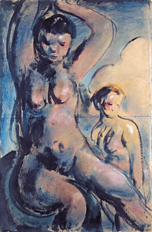 Nu pour composition (dit aussi Baigneuses), 1907