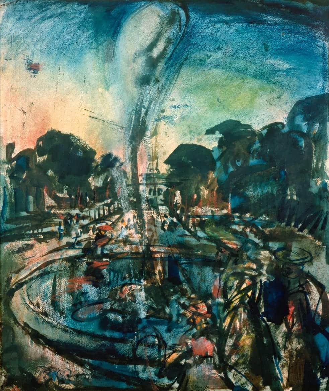 Versailles, le jet d'eau, 1905