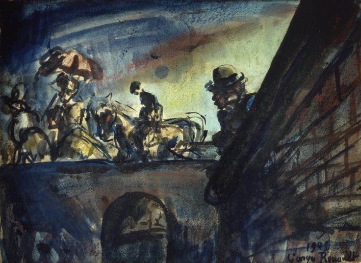 La traversée du pont - 1905