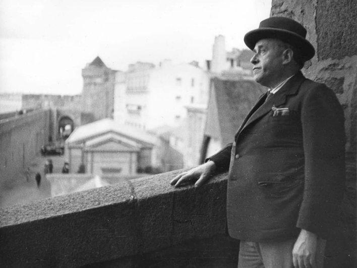 Georges Rouault sur les remparts de Saint-Malo Photographie Pierre Matisse