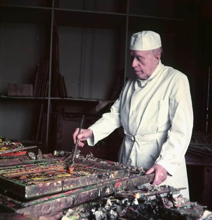 Rouault dans son atelier, 1953
