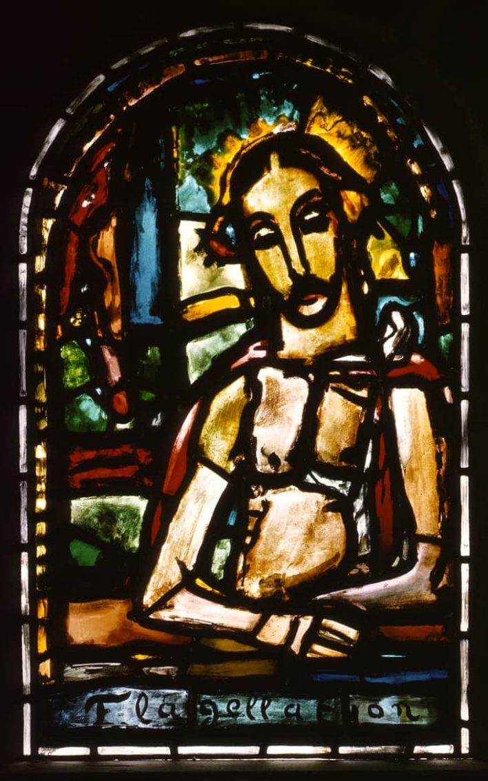 Flagellation (vitrail), Assy, 1949