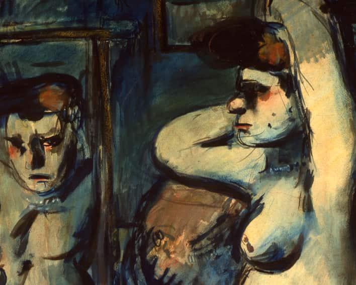 Fille au miroir, 1906, détail