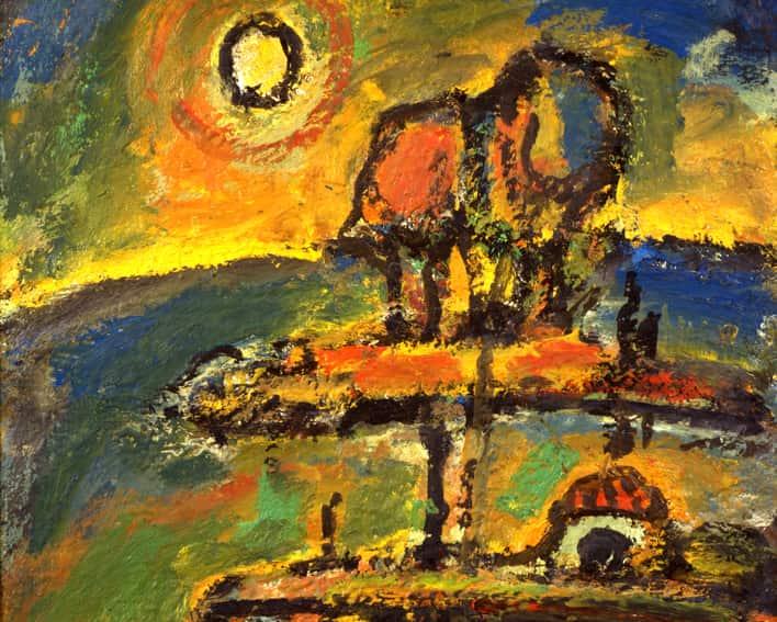 Nocturne chrétien,  1952, détail