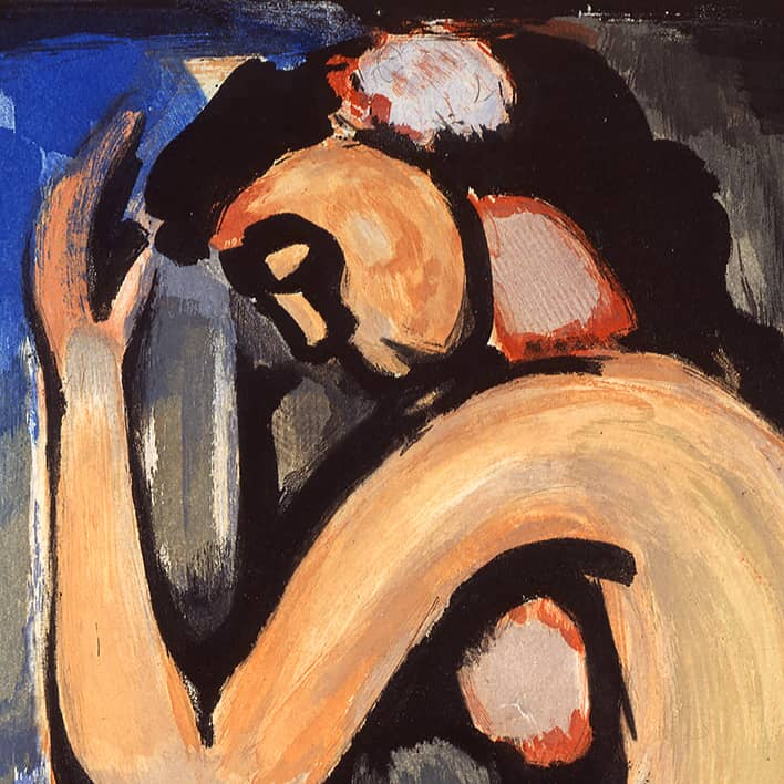 Fleurs du mal : Nu de profil, 1936-1938