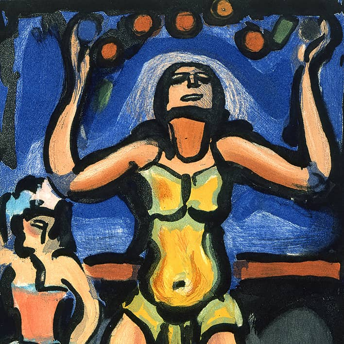 Cirque de l'étoile filante : Le Jongleur, 1934, détail