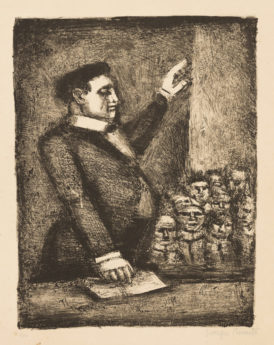 Grotesques : Le Tribun, état 3, 1927-1929