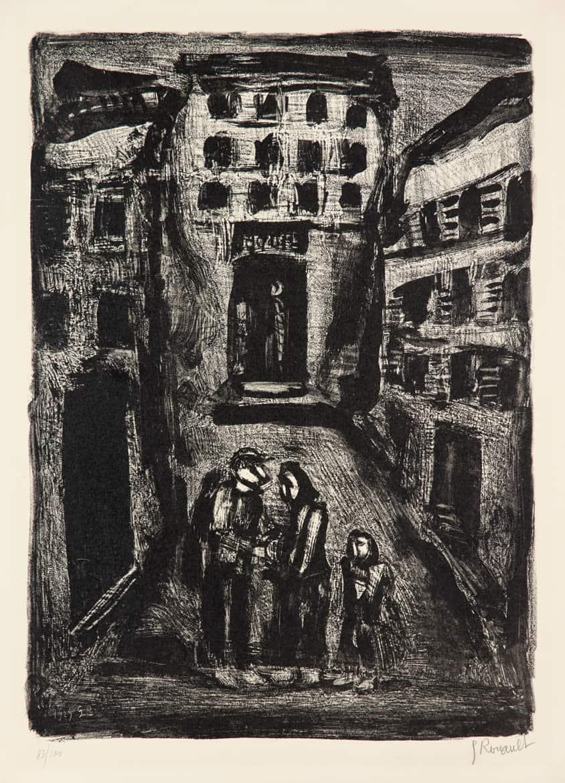 La petite banlieue – Faubourg des longues peines : Dans la rue, 1929