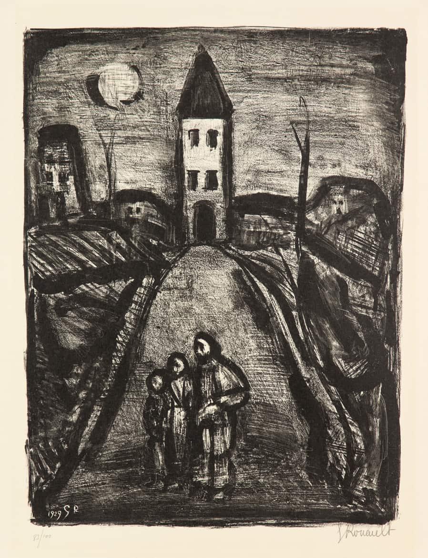 La petite banlieue – Faubourg des longues peines : La pauvre église, 1929