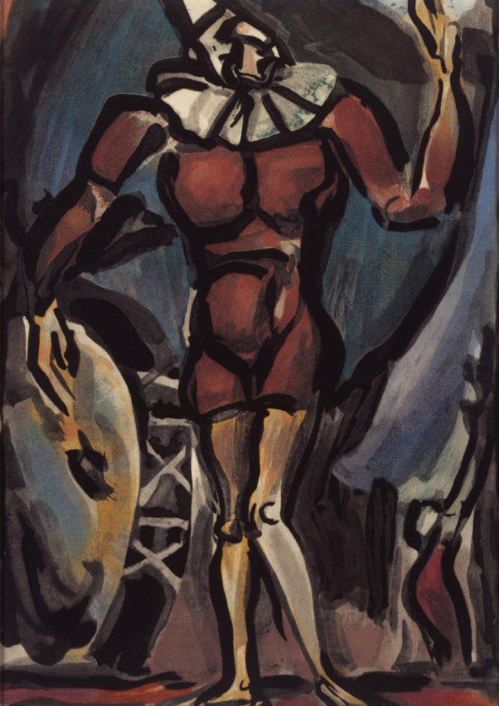 Cirque : Le Clown à la Grosse Caisse, 1930