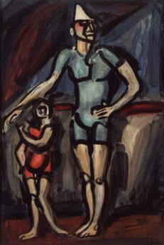 Cirque : Clown et Enfant, 1930