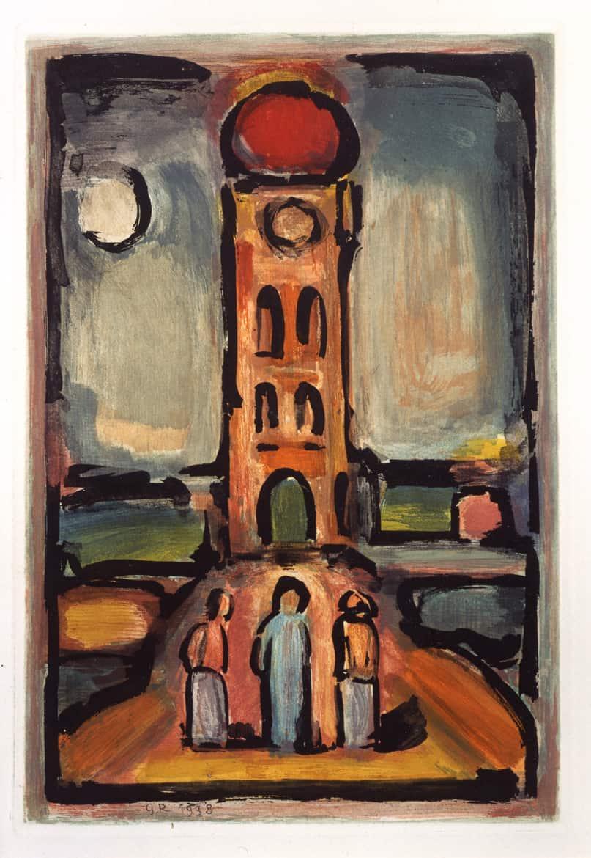 Les Fleurs du mal : Paysage à la tour, 1937