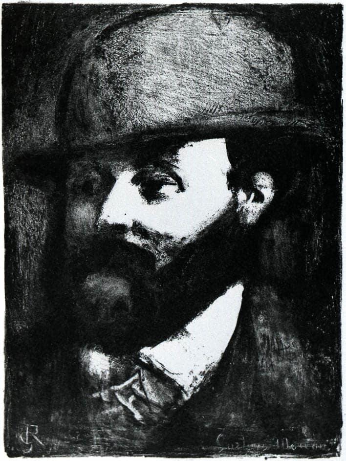 Portrait de Gustave Moreau par Georges Rouault