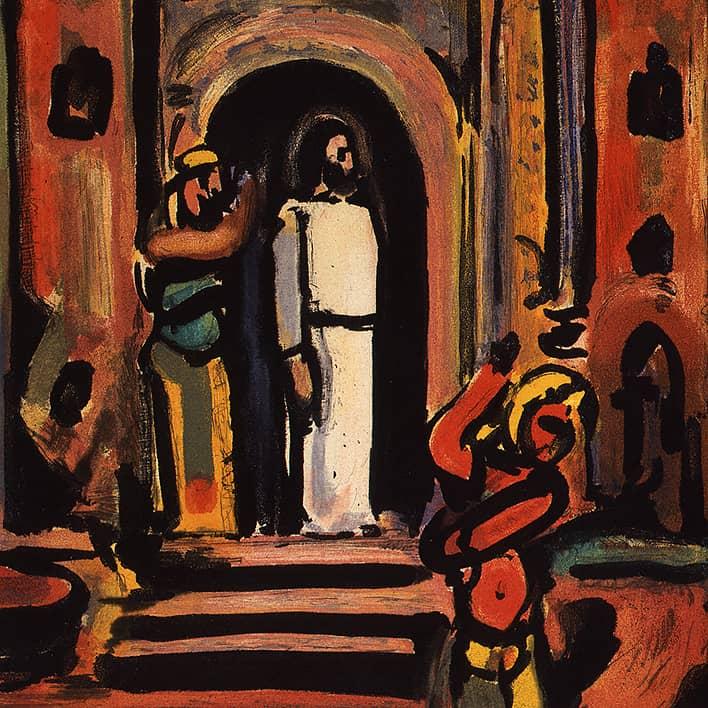 Passion : Frontispice (Christ aux portes de la ville), 1935