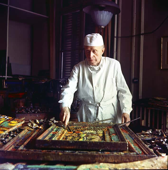 Rouault 1953 dans son atelier